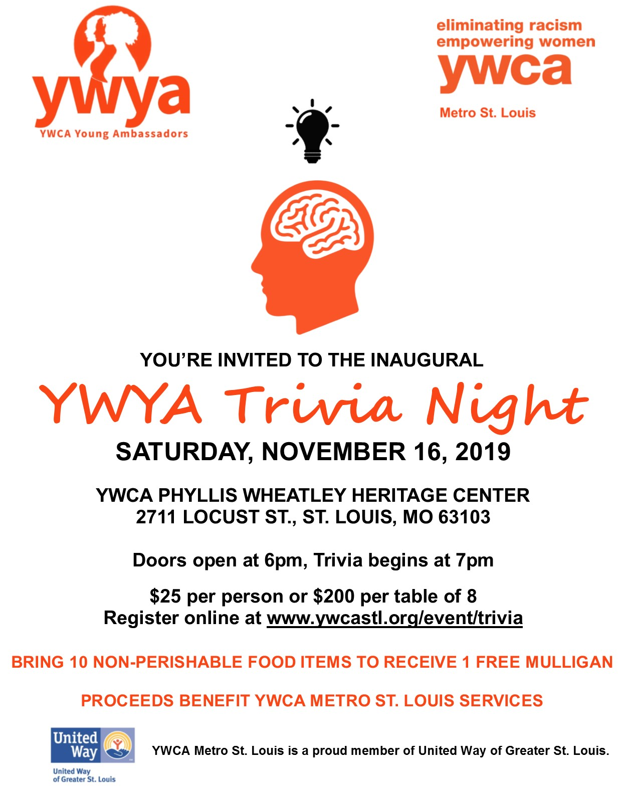 Inaugural YWYA Trivia Night @ Phyllis Wheatley Heritage Center